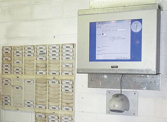 Terminal zur Erfassung von Betriebsdaten