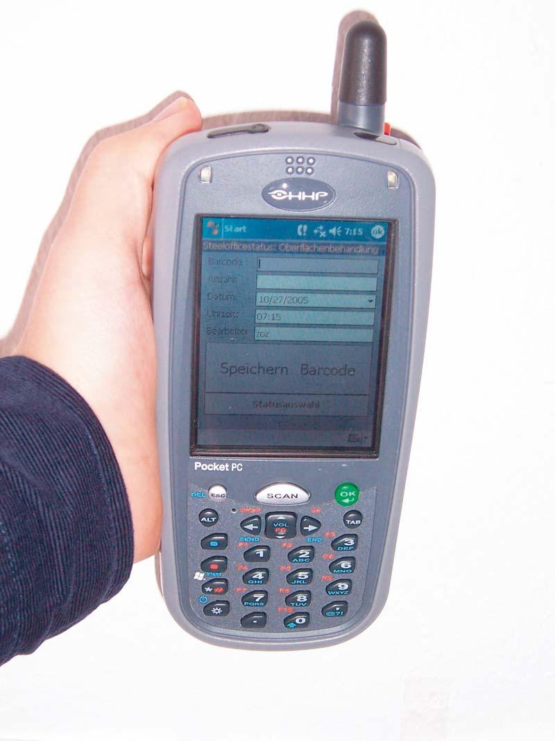 Mobile Terminals zur Bauteilverfolgung oder zur automatisierten Erstellung von Lieferscheinen